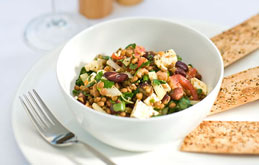 Lentil and Bean Salad with Feta.