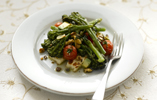 Roasted Tenderstem® Broccoli, Halloumi and Cherry Tomato Salad