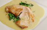 Salmon with Spinach and Beurre Blanc