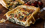Bacon, Spinach and Blue Cheese Tart