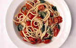 Spaghetti with Cherry Tomatoes and Two Vinegars