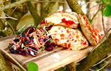 Pitta Bread Pizzas and Crunchy Coleslaw