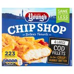 Young's 4 Bubbly Battered Chip Shop Large Cod Fillets Frozen