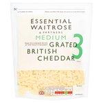 Grated Medium Cheddar essential Waitrose