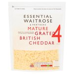 Grated Mature Cheddar essential Waitrose