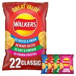Walkers Classic Variety Pack Crisps 24g x