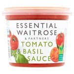 Essential Waitrose Fresh Tomato & Basil Sauce
