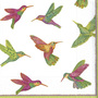 3ply Hummingbirds Lunch Paper Napkins 33cm, Multi