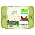 Waitrose Duchy Organic 6 Medium Free Range Eggs British