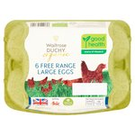 Waitrose Duchy Organic 6 Large Free Range Eggs British