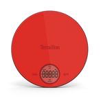 Terraillon Halo Glass Platform Kitchen Scale 6kg, Red