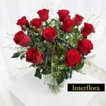 Interflora Valentine's Day 12 Luxury Red Roses