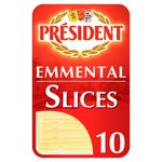 President Emmental 10 Cheese Slices
