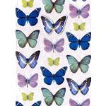 Butterflies Blank Card - Hand Finished