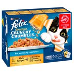 Felix Sensations Crunchy Crumbles Fish 7 Pouches + 40g Topping