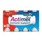 Actimel Strawberry Drinking Yogurts