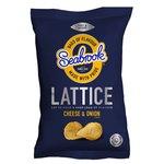 Seabrook Lattice Cheese & Onion Crisps