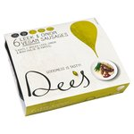 Dee's Leek & Onion Vegan Sausages Lightly Spiced with Irish Dulse Seaweed
