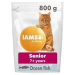 Iams Senior & Mature Dry Cat Food Ocean Fish