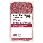 Essential Waitrose British Beef Mince (typically 15% Fat)