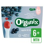 Organix Organic Fruit Puree Apple & Blueberry