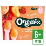 Organix Organic Variety Pack Apple & Strawberry / Apple & Peach Pots