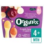 Organix Organic Fruit Variety Pack Apple & Vanilla / Banana & Plum