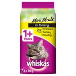 Whiskas 1+ Pouch Mini Meals Poultry Gravy