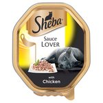 Sheba Sauce Lover Cat Tray with Chicken
