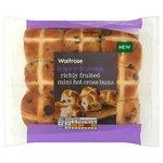 Waitrose Mini Richly Fruited Hot Cross Buns