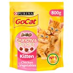 Go-Cat Crunchy & Tender Kitten Chicken & Vegetable