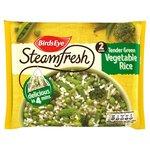 Birds Eye Steamfresh 2 Rice Tender Green Veg Frozen