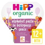 HiPP Organic Alphabet Pasta Shapes with Bolognese Sauce