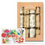 "Waitrose Gold & White 12.5"" Crackers"