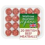 Duchy Waitrose Organic Mini Meatballs