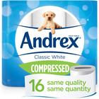 Andrex Compressed Classic White Toilet Tissue