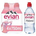 Evian Still Mineral Water Sports Cap