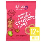Ella's Kitchen Raspberries & Peaches Crunchy Rings