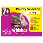 Whiskas 7+ Cat Pouches Poultry in Jelly