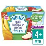 Heinz Apple, Banana, Apricot Fruit Pots
