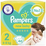 Pampers New Baby Nappies Size 2 Essential Pack