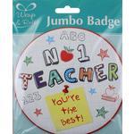 Thank You Teacher Jumbo Badge