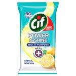 Cif Power & Shine Citrus Fresh Antibacterial Wipes