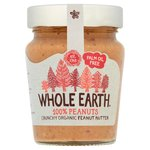 Whole Earth Organic Crunchy Palm Oil Free Peanut Butter