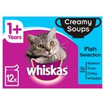 Whiskas 1+ Cat Pouch Creamy Soup Fish