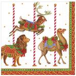 Caspari Merry Go Round White Lunch Napkin