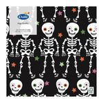 Duni 33cm 3ply Skeletons Black Napkin