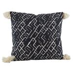 Raine & Humble Tribal Print Cushion with Pom Poms