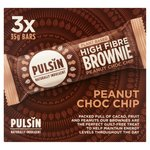 Pulsin' Peanut Choc Chip Raw Choc Brownie Mulitpack