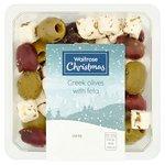 Waitrose Large Greek Olives with Feta